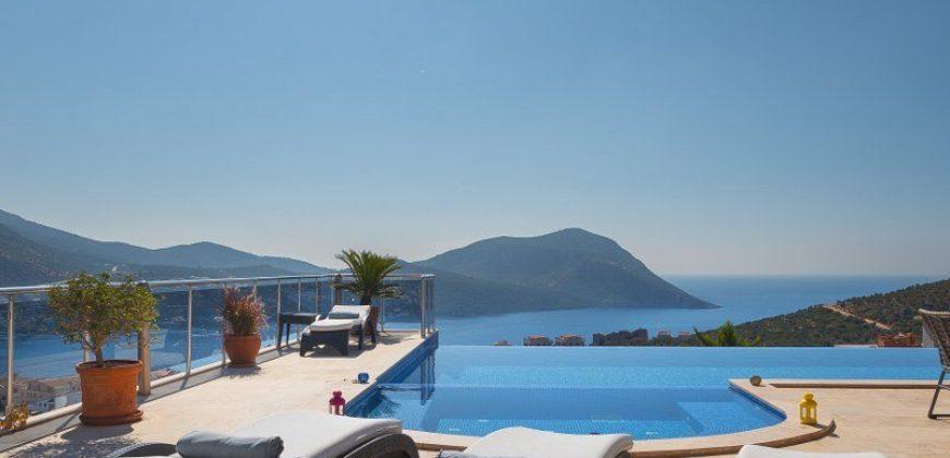 Luxury Five Bedroom Villa With Spectacular View in Kalkan