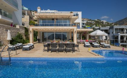 Luxury Five Bedroom Villa With Spectacular View For Sale in Kalkan