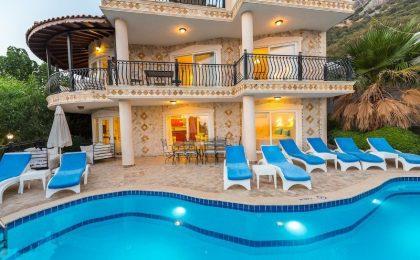 Luxury Five Bedroom Villa with Fabolous View for Sale in Kalkan