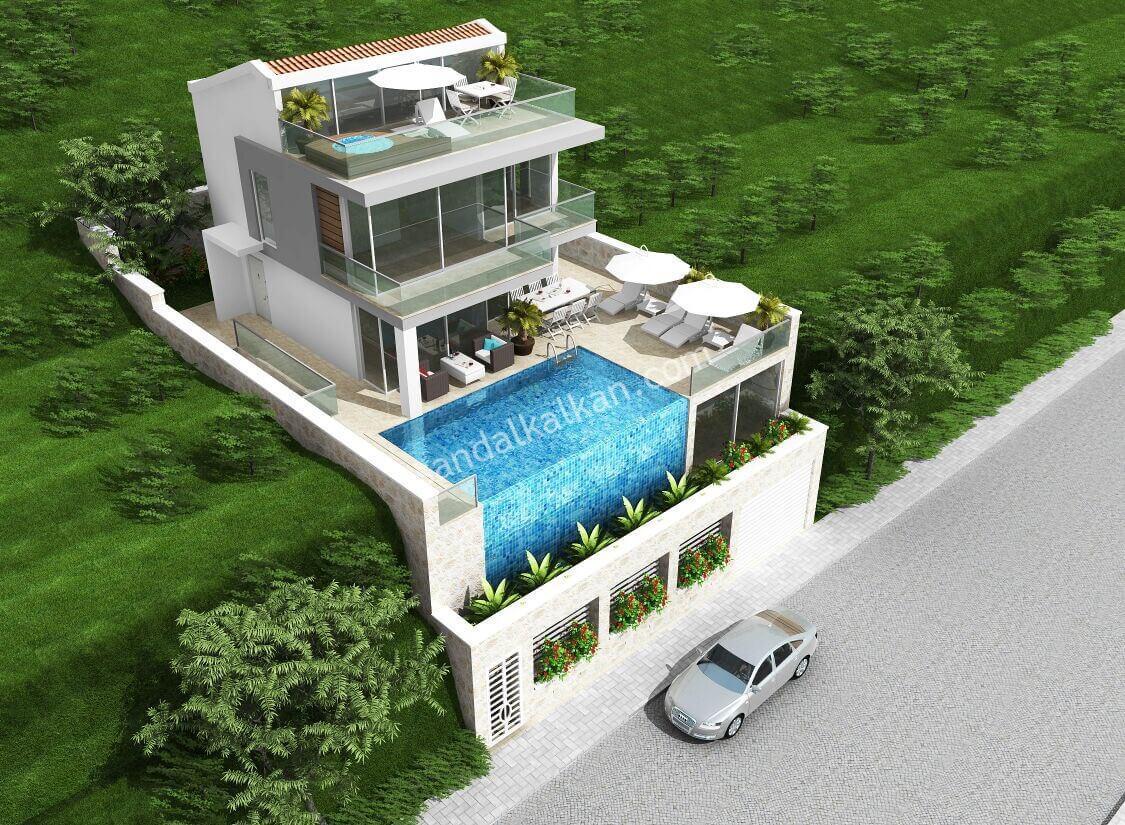 Off-Plan! Four Bedroom Villa in Kalkan, Kızıltas