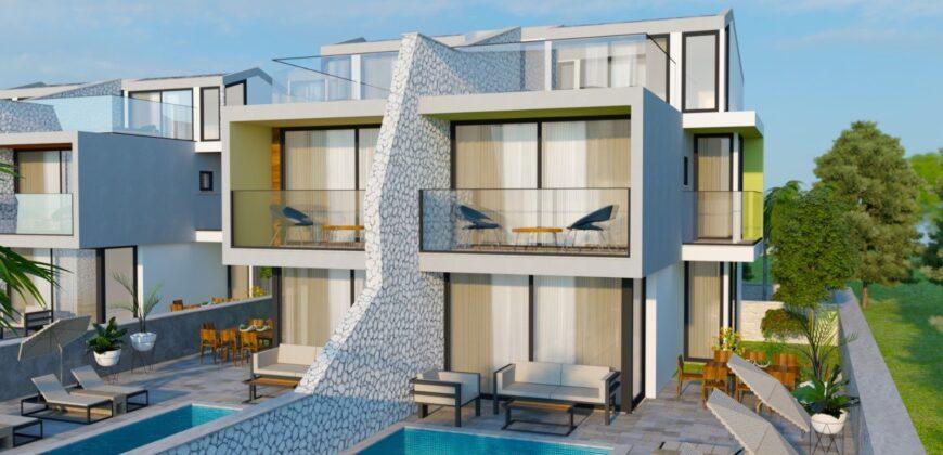 New! Off-Plan Luxury Semi Detected Three Bedroom Villas for sale in Kalkan