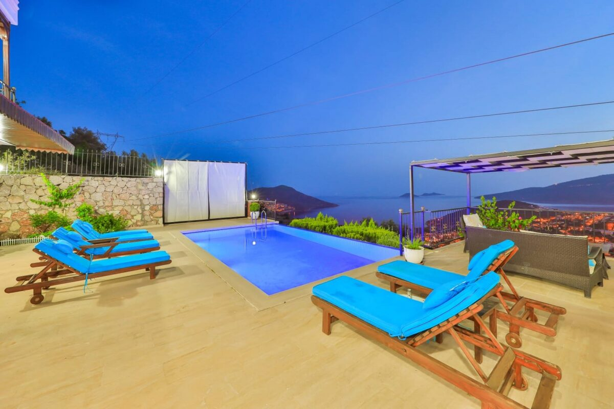 Three Bedroom Villa with Fabolous view in Kalkan for sale