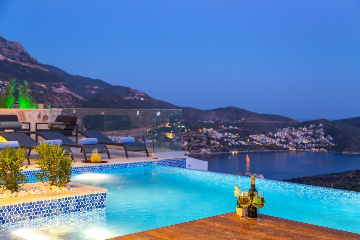 Luxury Three Bedroom Villa with Spectacular view in Kalkan for Sale